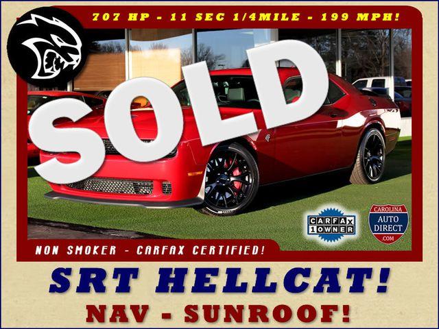 2016 Dodge Challenger SRT Hellcat NAV - SUNROOF - 199 MPH TOP SPEED! Mooresville , NC 0