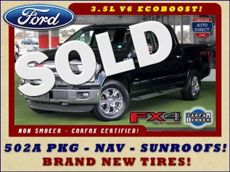 2016 Ford F-150 LARIAT LUXURY SuperCrew 4x4 FX4 - SUNROOFS! Mooresville , NC