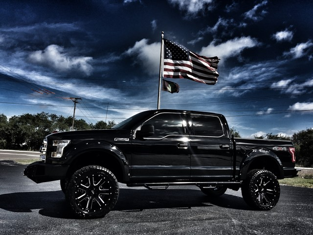 details about 2016 ford f 150 custom lifted leather flares go rhino. Black Bedroom Furniture Sets. Home Design Ideas