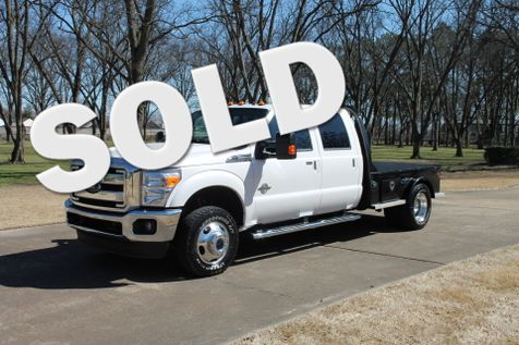 2016 Ford  F-350 Crew Cab 4WD Lariat Flat Bed Powerstroke Diesel in Marion, Arkansas