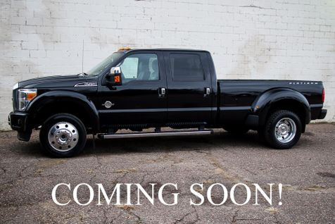 2016 Ford Super Duty F-450 Crew Cab Platinum Turbo Diesel 4x4 w/Navigation, Heated/Cooled Seats & Sync Audio in Eau Claire
