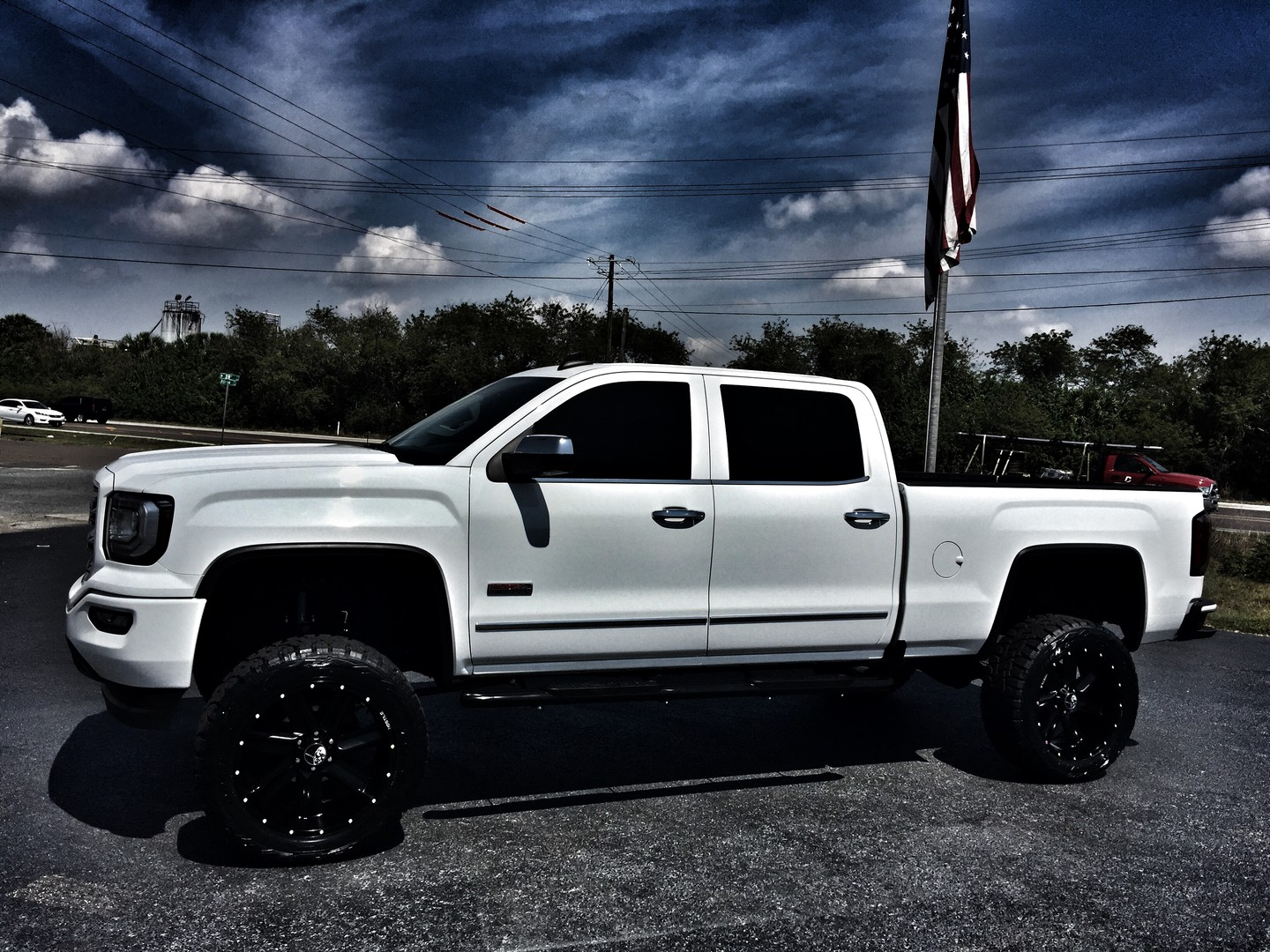 2016 gmc sierra 1500 custom lifted all terrain crewcab 4x4 v8 florida bayshore automotive. Black Bedroom Furniture Sets. Home Design Ideas