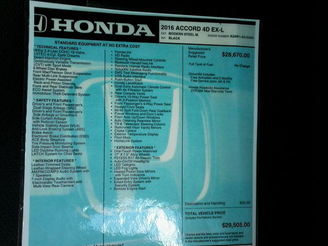2016 Honda Accord EX-L San Antonio, Texas 32