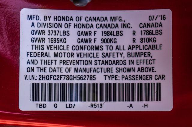 2016 Honda Civic EX - Rear view Camera - Lane Safety Camera Reseda, CA 38