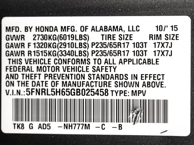2016 Honda Odyssey EX-L Burbank, CA 27