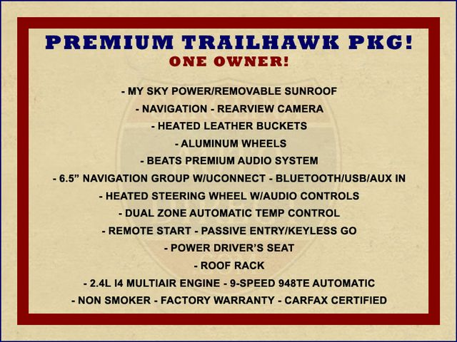 2016 Jeep Renegade Trailhawk 4WD - TOMAHAWK PKG - NAV - SUNROOF! Mooresville , NC 1