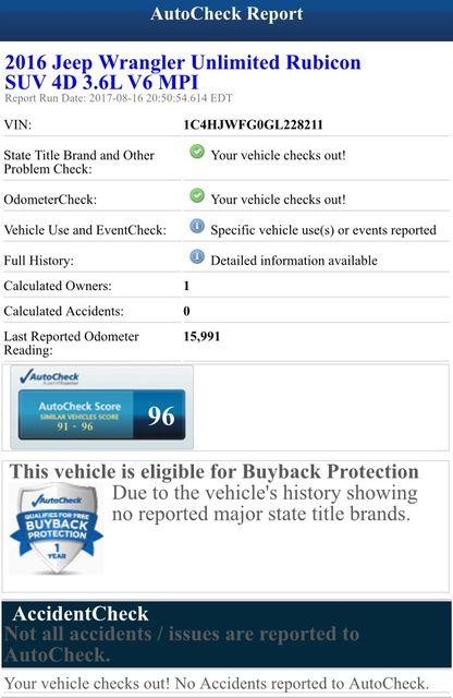 2016 Jeep Wrangler Unlimited Rubicon Hard Rock Jacksonville , FL 4