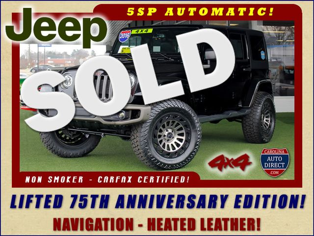 2016 Jeep Wrangler Unlimited 75th Anniversary 4X4 - LIFTED - NAVIGATION! Mooresville , NC 0