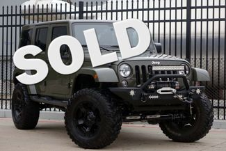 2016 Jeep Wrangler Unlimited Sahara * LIFTED * 35's * Leather * BUMPERS *EXTRAS Plano, Texas
