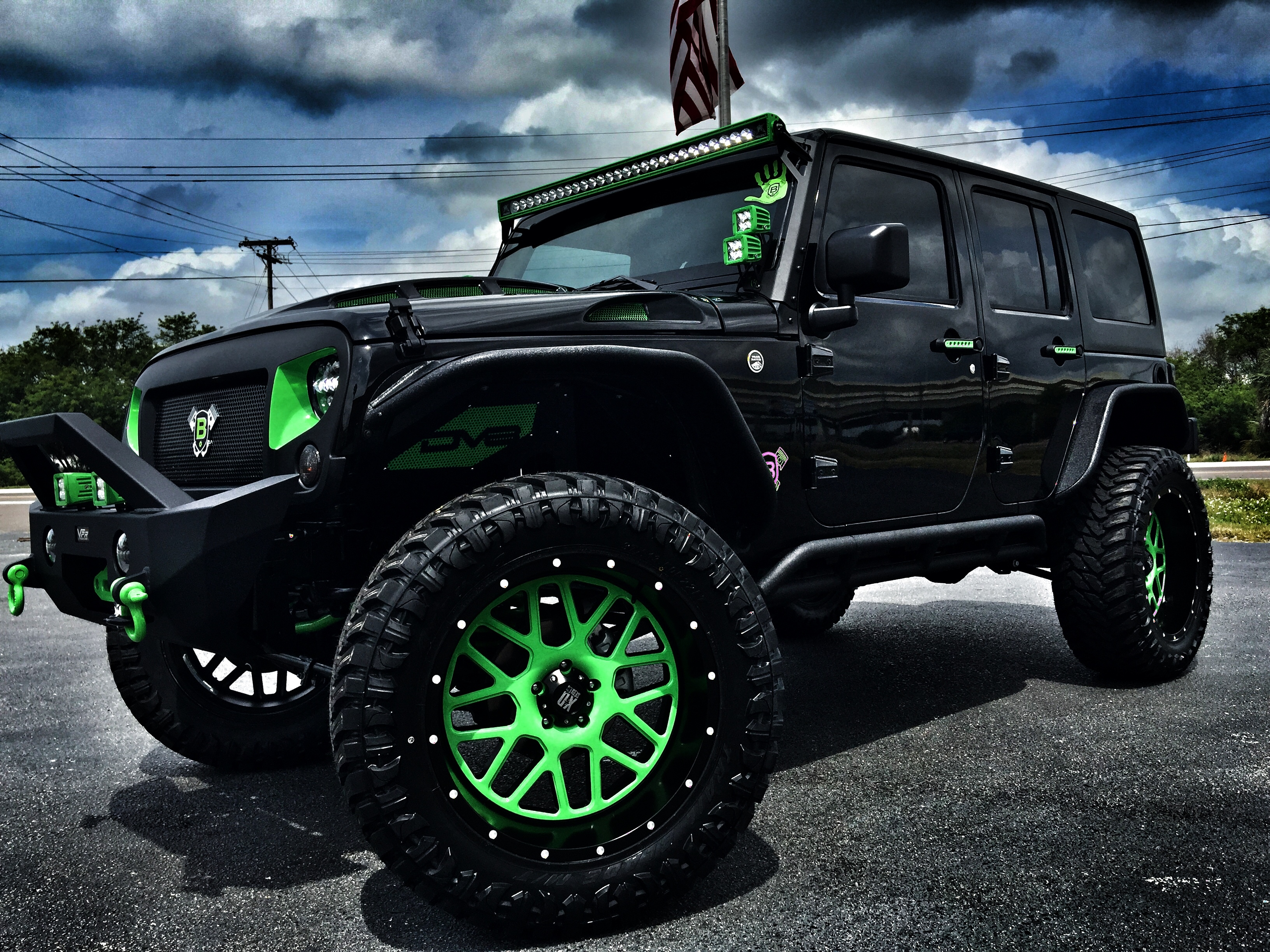 2016 jeep wrangler unlimited biohazard custom lifted leather xd dv8 florida bayshore automotive. Black Bedroom Furniture Sets. Home Design Ideas