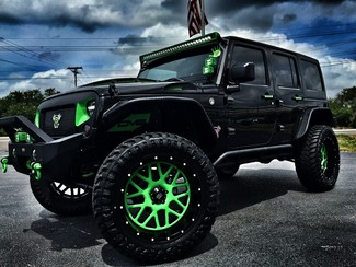 2016 Jeep Wrangler Unlimited BIOHAZARD CUSTOM LIFTED LEATHER XD DV8 in ,, Florida