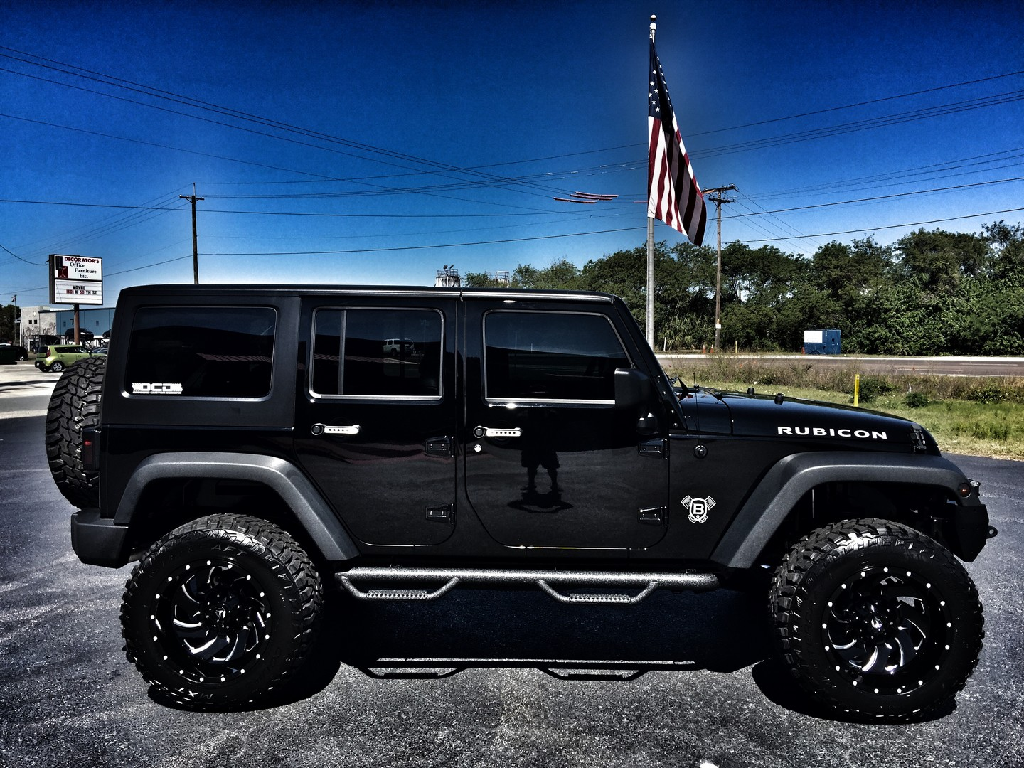 2016 jeep wrangler unlimited rubicon custom lifted leather nav hardtop florida bayshore automotive. Black Bedroom Furniture Sets. Home Design Ideas