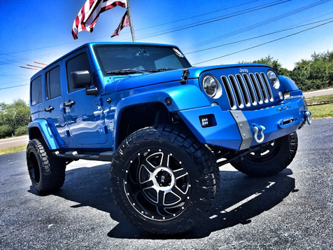 2016 Jeep Wrangler Unlimited CUSTOM LIFTED SAHARA LEATHER HARDTOP 4X4 in , Florida