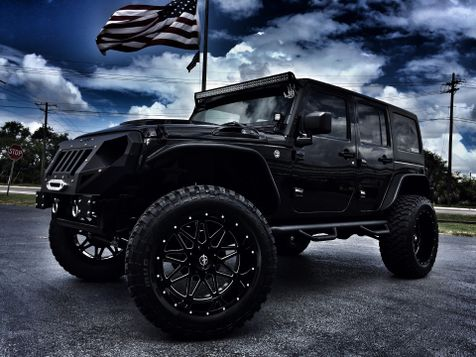 2016 Jeep Wrangler Unlimited CUSTOM GRUMPER SAHARA LEATHER LIFTED LOADED in , Florida