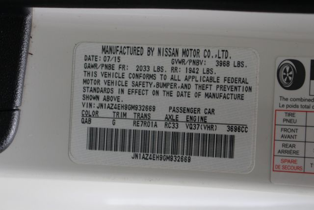 2016 Nissan 370Z RWD - SPECIAL PEARL WHITE PAINT! Mooresville , NC 37