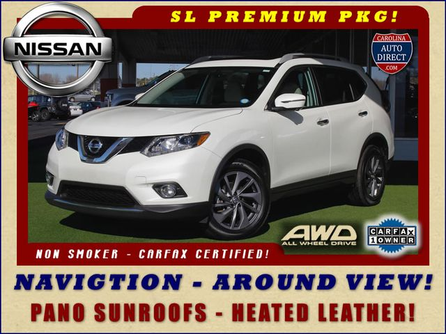 2016 Nissan Rogue SL PREMIUM EDITION AWD - NAV - SUNROOFS! Mooresville , NC 0