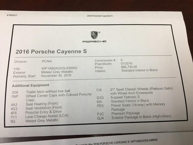 2016 Porsche Cayenne S Longwood, FL 34