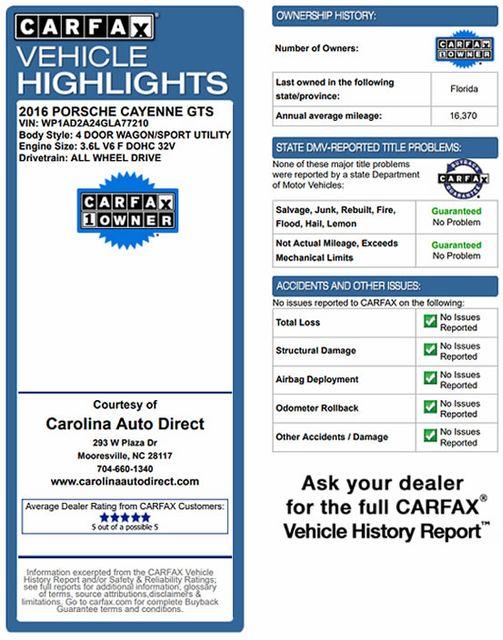 2016 Porsche Cayenne GTS AWD - PREMIUM PKG PLUS! Mooresville , NC 3