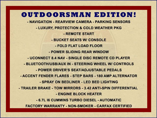 2016 Ram 2500 Outdoorsman Crew Cab 4x4 - NAV - CUMMINS! Mooresville , NC 1