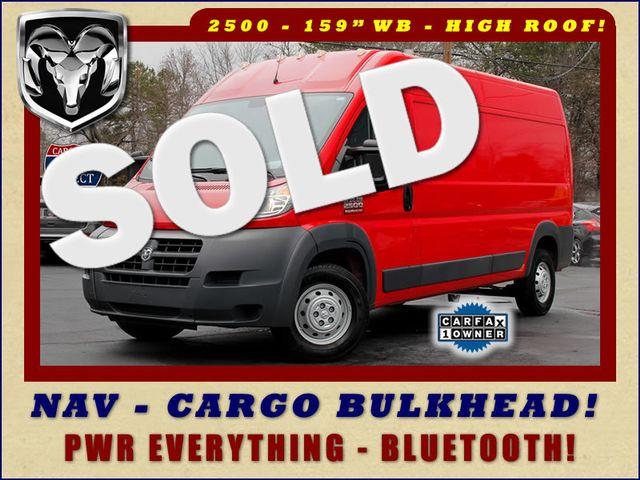 "2016 Ram ProMaster Cargo Van 2500 159"" WB HIGH ROOF - NAVIGATION! Mooresville , NC 0"