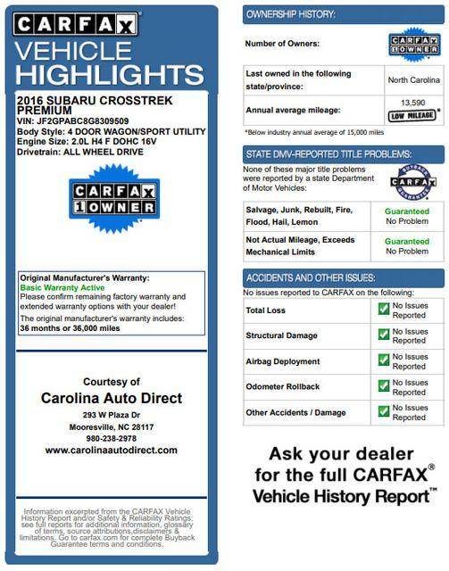 2016 Subaru Crosstrek Premium AWD - HEATED BUCKETS - CVT! Mooresville , NC 3