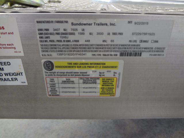 2016 Sundowner CH19BP Aluminum Open Car Hauler Austin , Texas 9