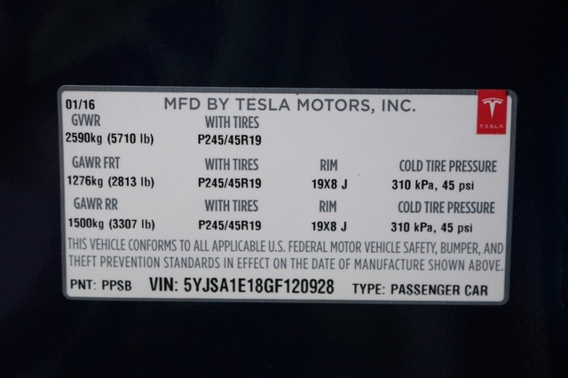 2016 Tesla Model S 85 Mooresville, North Carolina 109