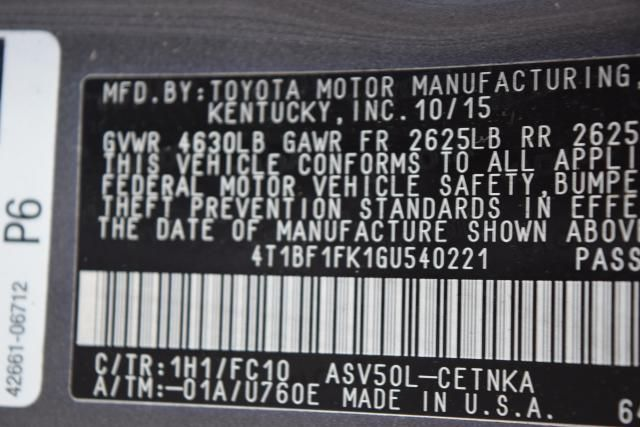 2016 Toyota Camry LE Richmond Hill, New York 13