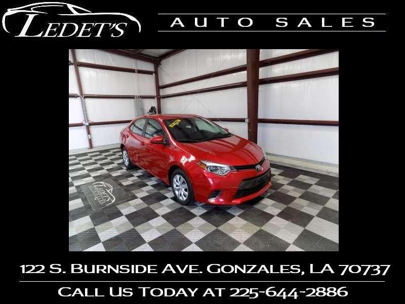 2016 Toyota Corolla LE - Ledet's Auto Sales Gonzales_state_zip in Gonzales Louisiana
