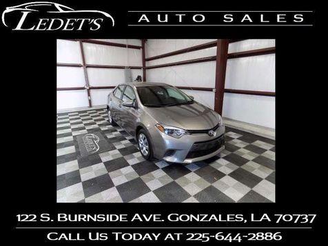 2016 Toyota Corolla LE - Ledet's Auto Sales Gonzales_state_zip in Gonzales, Louisiana