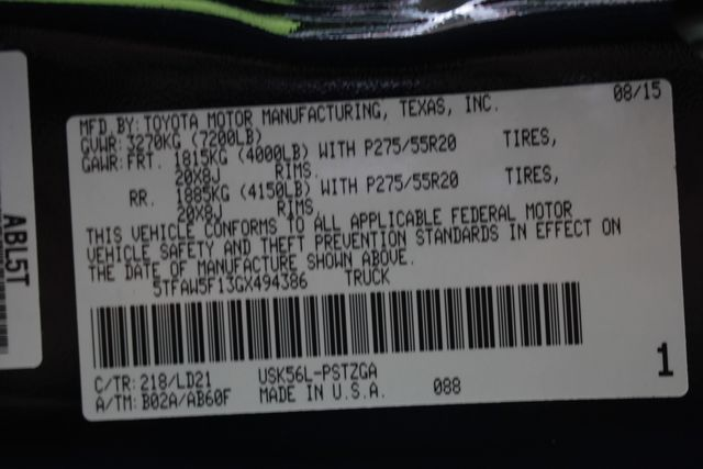 2016 Toyota Tundra 1794 CrewMax 4x4 - NAVIGATION-SUNROOF-BLIS! Mooresville , NC 48
