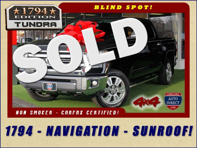 2016 Toyota Tundra 1794 CrewMax 4x4 - NAVIGATION-SUNROOF-BLIS! Mooresville , NC 0