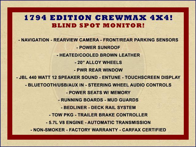 2016 Toyota Tundra 1794 CrewMax 4x4 - NAVIGATION-SUNROOF-BLIS! Mooresville , NC 1