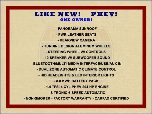 2017 Audi A3 Sportback e-tron Premium FWD - PHEV HYBRID - LIKE NEW! Mooresville , NC 1