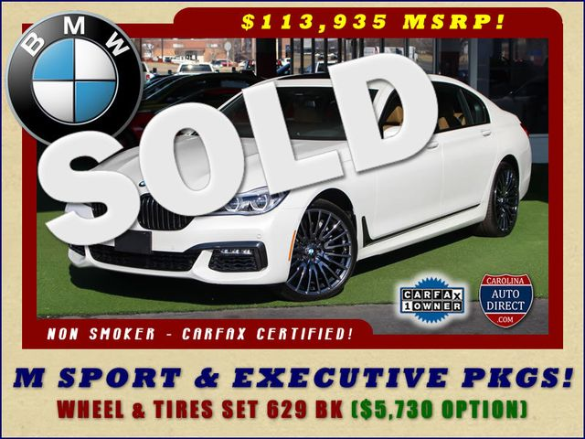 2017 BMW 750i RWD - M SPORT, EXECUTIVE & DRIVER PLUS II PKGS! Mooresville , NC 0