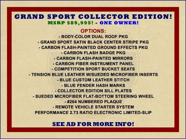 2017 Chevrolet Corvette Grand Sport Collector Edition 3LT - MSRP $89,995! Mooresville , NC 1