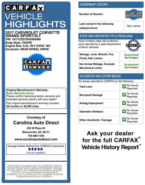 2017 Chevrolet Corvette Grand Sport Collector Edition 3LT - TENSION BLUE! Mooresville , NC 3