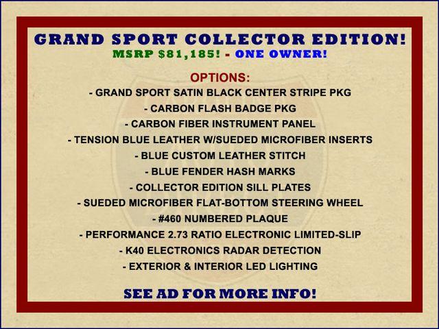 2017 Chevrolet Corvette Grand Sport Collector Edition 3LT - TENSION BLUE! Mooresville , NC 1