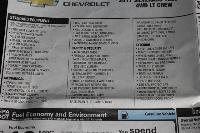2017 Chevrolet Silverado 1500 LT Crew Cab 4x4 Z71 ROCKY RIDGE ALPINE EDITION! Mooresville , NC 47