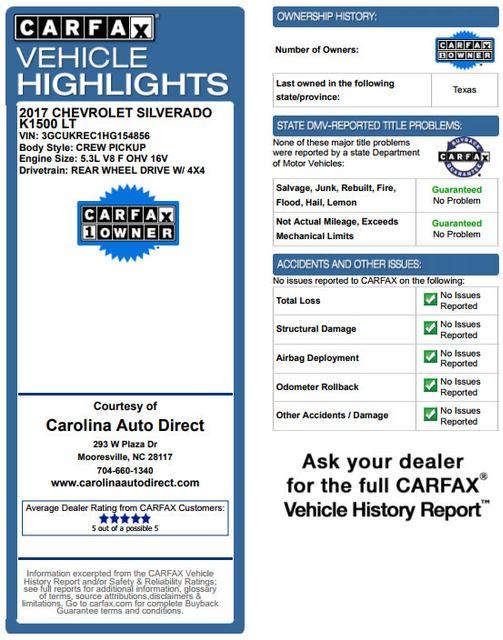 2017 Chevrolet Silverado 1500 LT Crew Cab 4x4 Z71 ROCKY RIDGE ALPINE EDITION! Mooresville , NC 3
