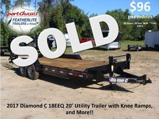 2017 Diamond C 18EEQ EXTREME DUTY EQUIPMENT TRAILER CONROE, TX