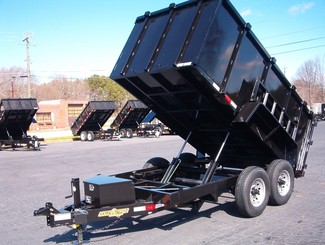 2017 Down To Earth 6x12  7 Ton 4ft Sides Dump Trailer in Madison, Georgia