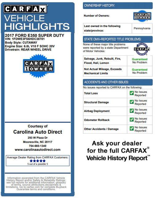 2017 Ford E-Series Cutaway E350  UNICELL 15' BOX TRUCK/VAN Mooresville , NC 3