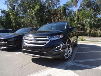 2017 Ford Edge Titanium. PANORAMIC. NAVI. AIR COOLED SEATS SEFFNER, Florida
