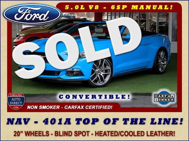 2017 Ford Mustang GT Premium - 401A TOP OF THE LINE - NAV! Mooresville , NC 0