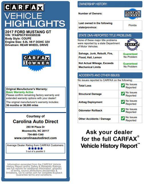 2017 Ford Mustang GT Premium - NAVIGATION - BLACK ACCENT PKG! Mooresville , NC 3