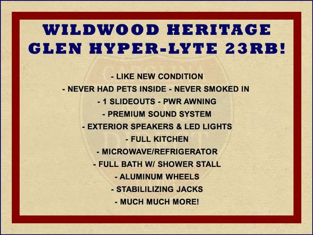 2017 Forest River Wildwood Heritage Glen 23RB Mooresville , NC 1