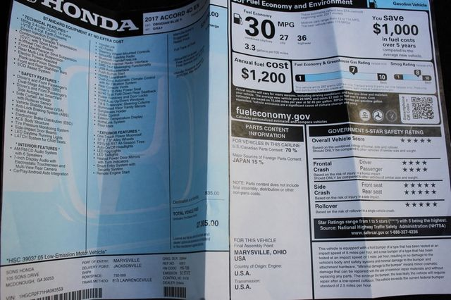 2017 Honda Accord EX Mooresville , NC 36