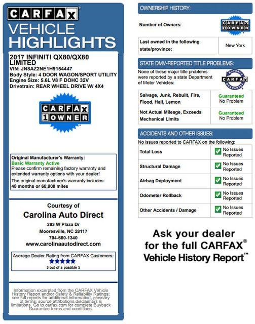 2017 Infiniti QX80 AWD - NAV - SUNROOF - AROUND VIEW! Mooresville , NC 3