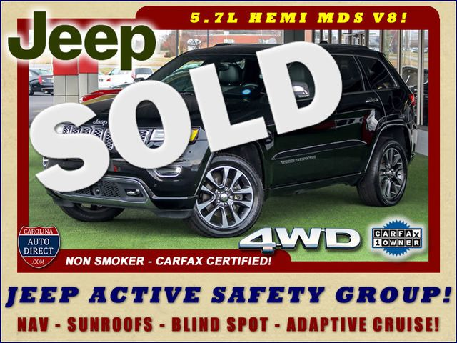 2017 Jeep Grand Cherokee Overland 4WD - JEEP ACTIVE SAFETY GROUP! Mooresville , NC 0
